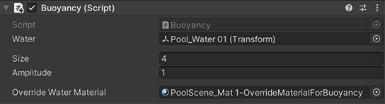 Buoyancy script interface